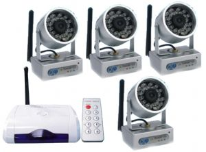 Wireless cameras - wireless home cctv security camera system with tv receiver/computer recorder